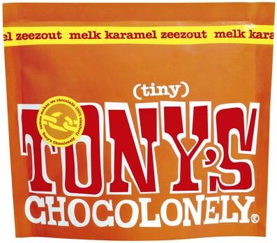 TONY'S CHOCOLONELY TINY MELK KARAMEL ZEEZOUT 180GR 20 Stuk