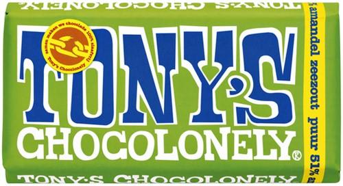 TONY'S CHOCOLONELY PUUR AMANDEL ZEEZOUT 180GR 180 Gram