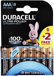 BATTERIJ DURACELL AAA ULTRA POWER ALKALINE 6+2 PACK 6+2 STUK