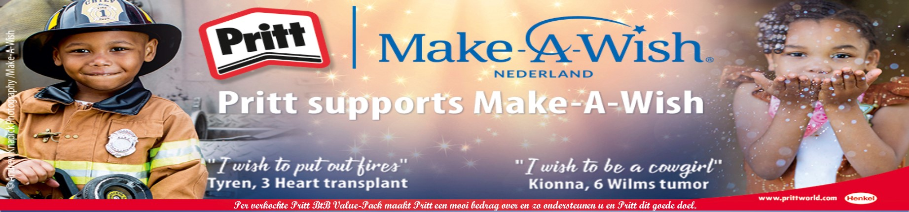 A Make A Wish actie Pritt