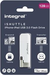 USB-STICK INTEGRAL 128GB 3.0 I-SHUTTLE 1 STUK