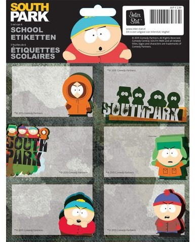 SCHOOLETIKET SOUTH PARK 1 STUK
