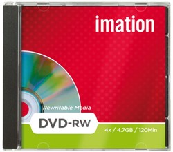 DVD-RW IMATION 4.7GB 4X SHOWBOX 1 STUK