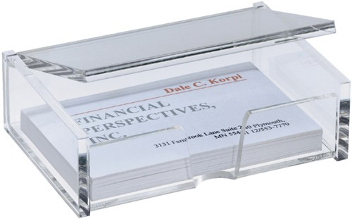 VISITEKAARTBOX SIGEL 90X55MM GLASHELDER 1 Stuk