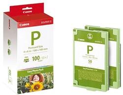 CANON E-P100  FOTO PAK  +  INKJETPAPIER 10X15CM 245GR 100 VEL