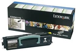 TONERCARTRIDGE LEXMARK X340A11G PREBATE 2.5K ZWART 1 STUK