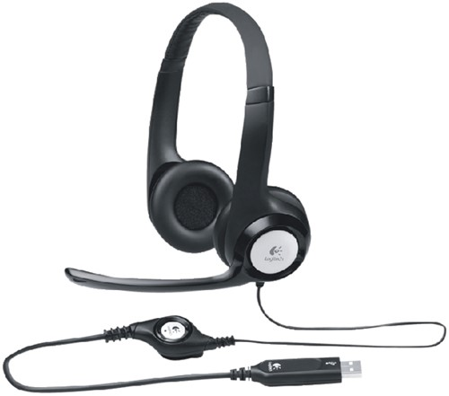 HEADSET LOGITECH H390 OVER EAR USB ZWART 1 Stuk