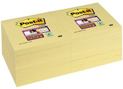 MEMOBLOK 3M POST-IT 76X76MM GEEL 654-SSY 90 VEL
