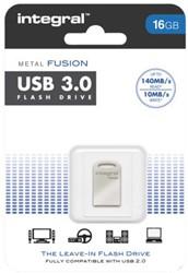USB-STICK INTEGRAL FD 16GB METAL FUSION 3.0 1 STUK