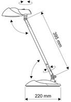 BUREAULAMP MAUL STORM LED VOET ZWART 1 STUK
