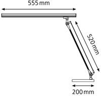 BUREAULAMP HANSA LED GRAFILUX ALUMINIUM 1 STUK-1