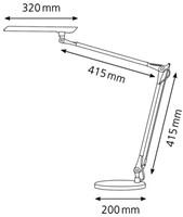 BUREAULAMP HANSA COMFORT DUBBELE ARM ALUMINIUM 1 STUK
