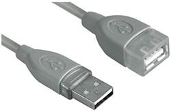 KABEL HAMA USB 2.0 A-A VERLENG 1.8M GRIJS 1 STUK