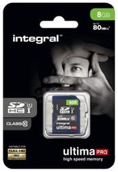 GEHEUGENKAART INTEGRAL SDHC 8GB ULTIMAPRO CL10 1 STUK