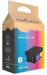 INKCARTRIDGE WECARE BRO LC-1100 ZWART 3 KLEUREN 4 STUK