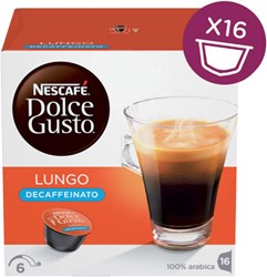DOLCE GUSTO LUNGO DECAFFEINATO 16 CUPS 16 CUP