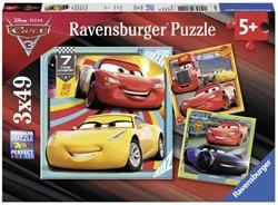 PUZZEL RAVENSBURGER CARS 3 3X49ST 1 STUK