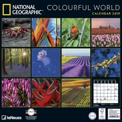 KALENDER 2019 TENEUES NAT COLOURFUL WORLD 30X30CM 1 STUK