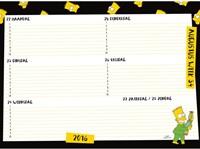 SCHOOLAGENDA 2016 SIMPSONS 1 STUK