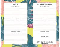 SCHOOLAGENDA 2016 FASHION 1 STUK