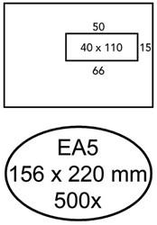 ENVELOP HERMES BANK DIGITAL EA5 VR STRIP 90GR WIT 500 STUK