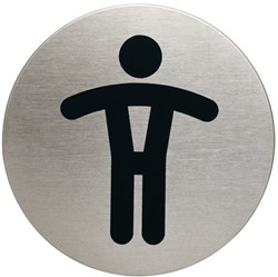 INFOBORD PICTOGRAM DURABLE WC HEREN ROND 83MM 1 STUK