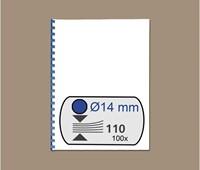 BINDRUG GBC 14MM 21RINGS A4 BLAUW 4028238 100 STUK-2