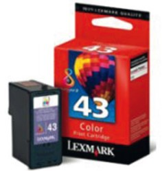INKCARTRIDGE LEXMARK 43XL 18YX143E HC KLEUR 1 STUK
