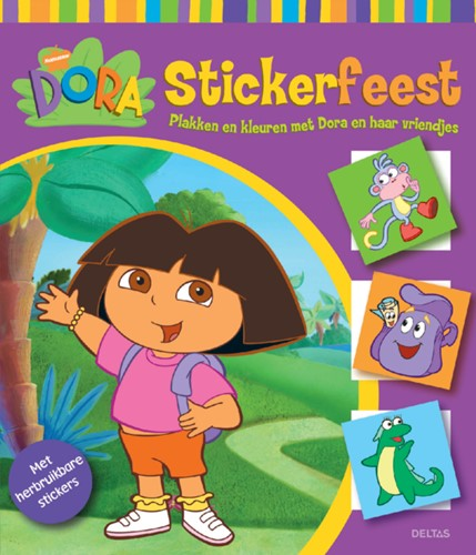 STICKERBOEK NICKELODEON DELTAS DORA STICKERFEEST 1 STUK
