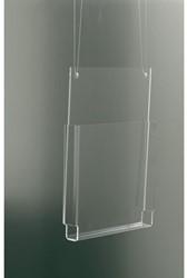 FOLDERHOUDER OPUS 2 HANGEND A4 DWARS GLASHELDER 1 STUK