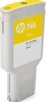HP CARTRIDGE 745 YELLOW 300ML